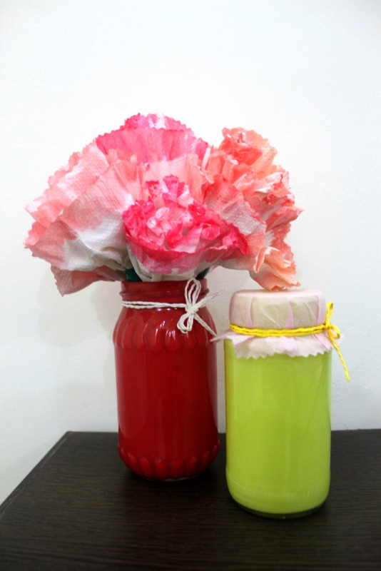 Material Used: Jam Jars and Toilet Roll Paper