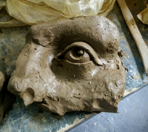 First eye sculpture